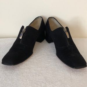 Salvatore Ferragamo size 7 very narrow black suede